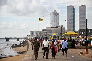 Uferpromenade Galle Face Green in Colombo in Sri Lanka