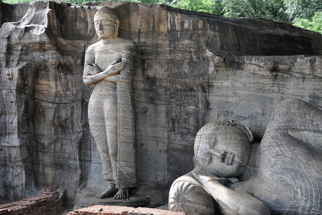 Standing Rock Statue of Gal Vihara in Polonnaruwa