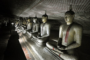 Dambulla cave temple in the Cultural Triangle of Sri Lanka