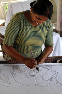 batik handicraft in Marawila in northwestern Sri Lanka