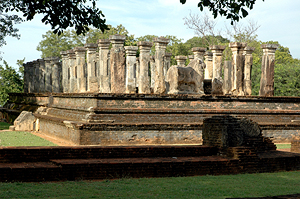 Nissanka Malla's throne hall in Polonnaruwa