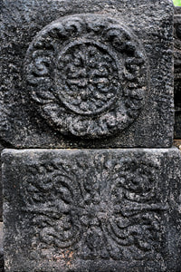 stone carvings at Barandiya Hindu temple in Sri Lanka