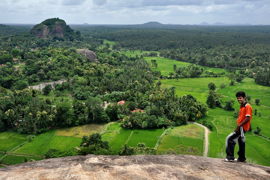 view from Dambadeniya rock