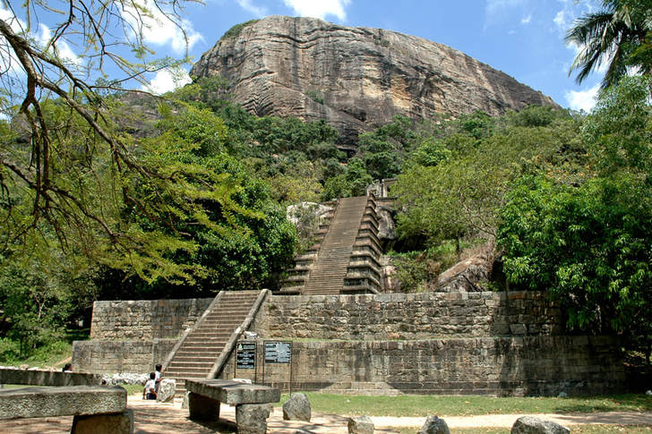 flight of stairways at Yapahuwa rock in Sri Lanka
