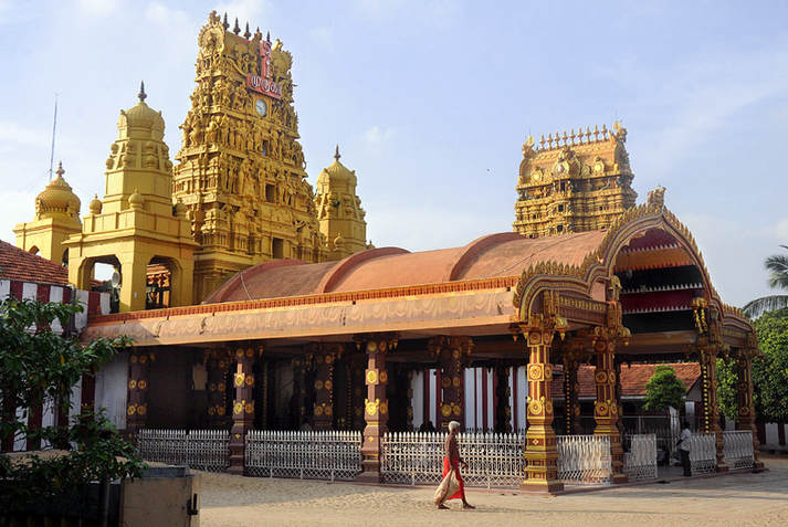 Nallur Kandaswamy Temple in the suburbs of Jaffna