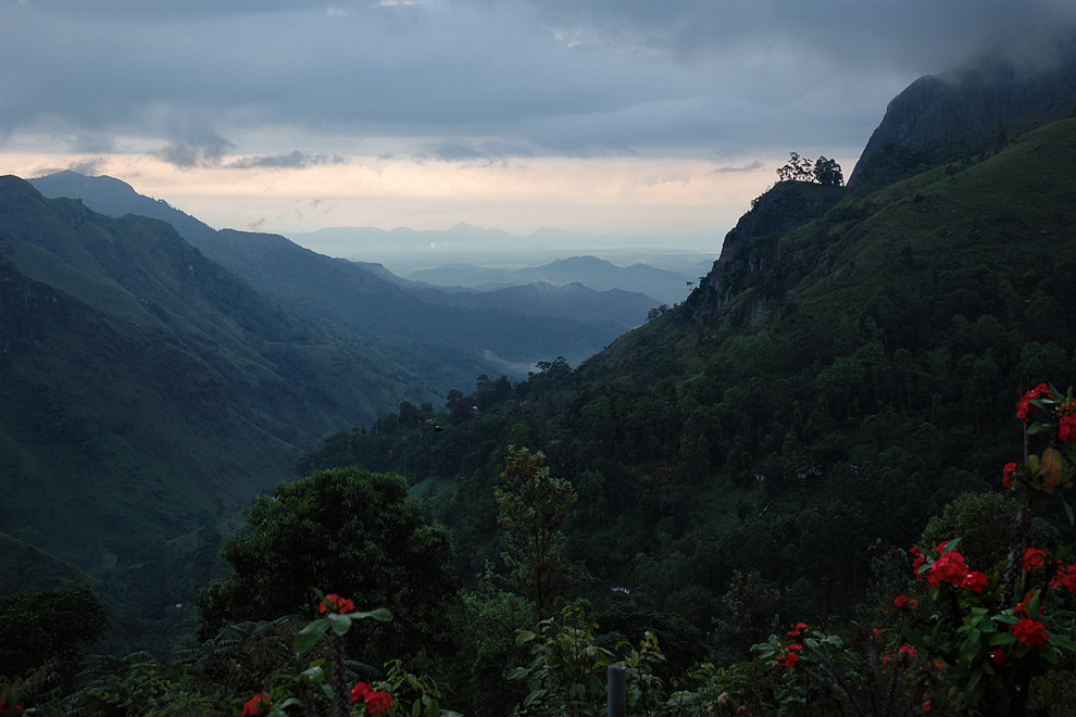 Ella Gap in the south of Sri Lanka's highlands