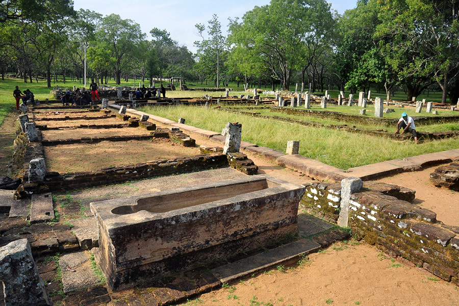 Ruins of ancient Ayurvedic hospital in Mihintale