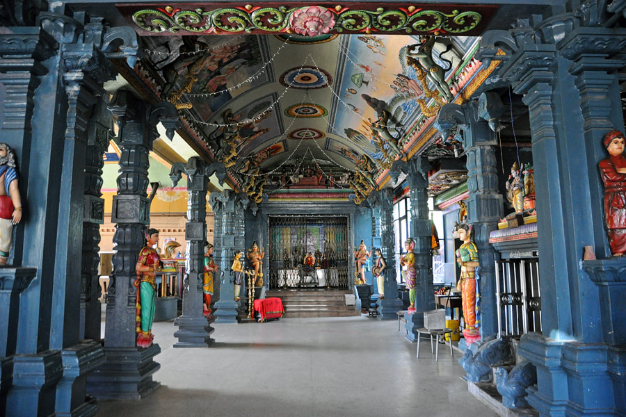 Mandapa of Koleshvaram Hindu temple in Colombo
