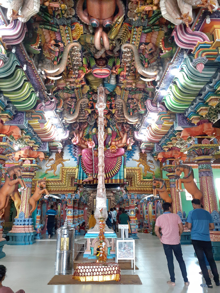 interior of the Kali temple in Trincomalee
