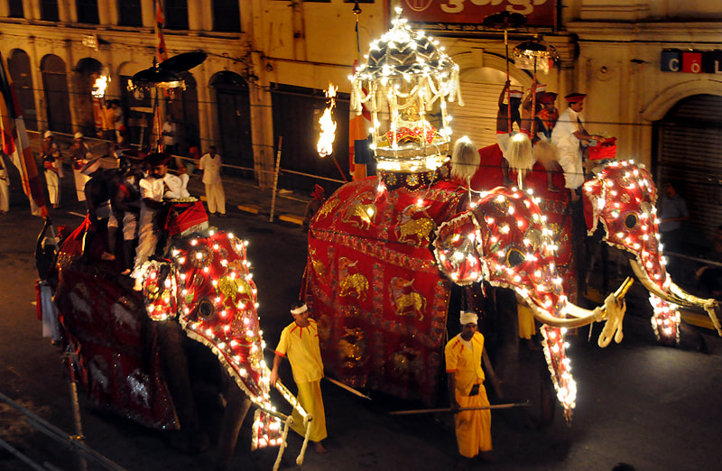 Kandy Perahera usually held in August