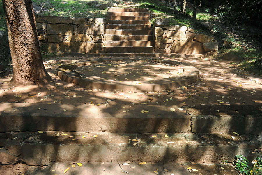 stairway of the meditation path in Manakanda
