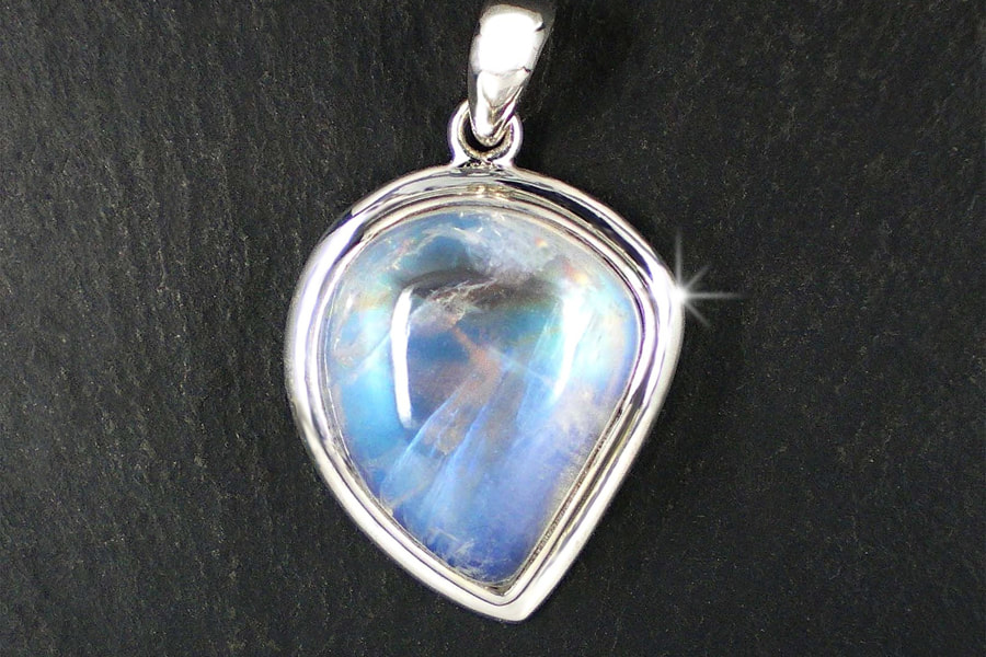 high-value blue-shining moonstone