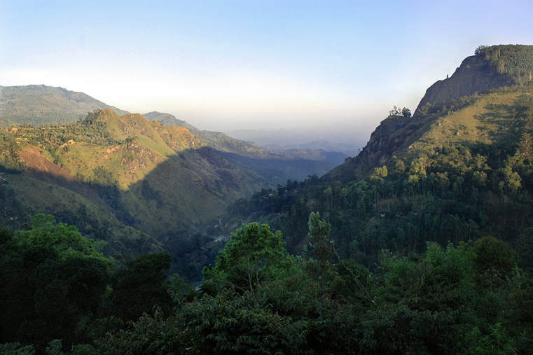 view to the Ella Gap in Sri Lanka
