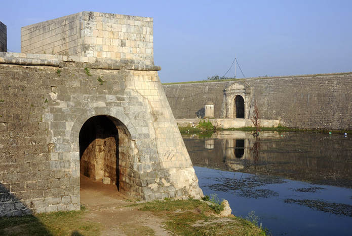 Dutch Fort, landmark of Jaffna city in northern Sri Lanka