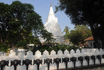 stupa of the Buddhist Nagavihara temple in Jaffna city