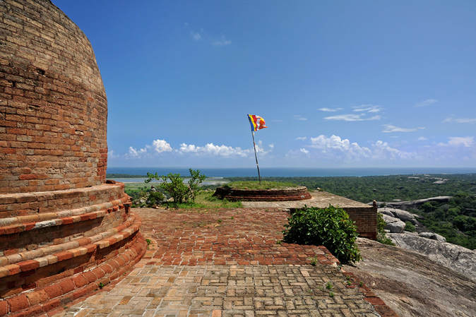 Kudumbigala stupa and view to Okanda Beach