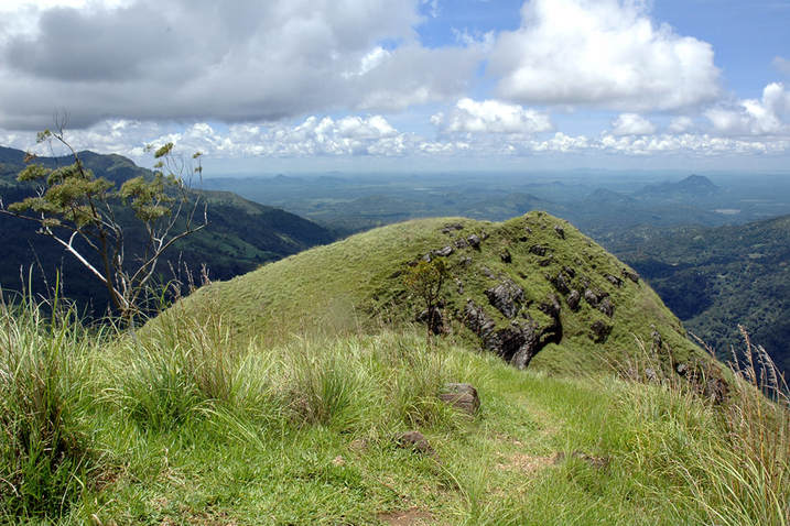 view from Ella's Little Adam's Peak to the southern lowlands of Sri Lanka