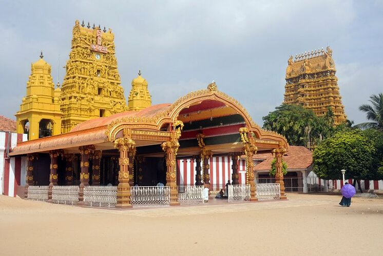 Nallur Kandaswamy Temple located to the northeast of Jaffna