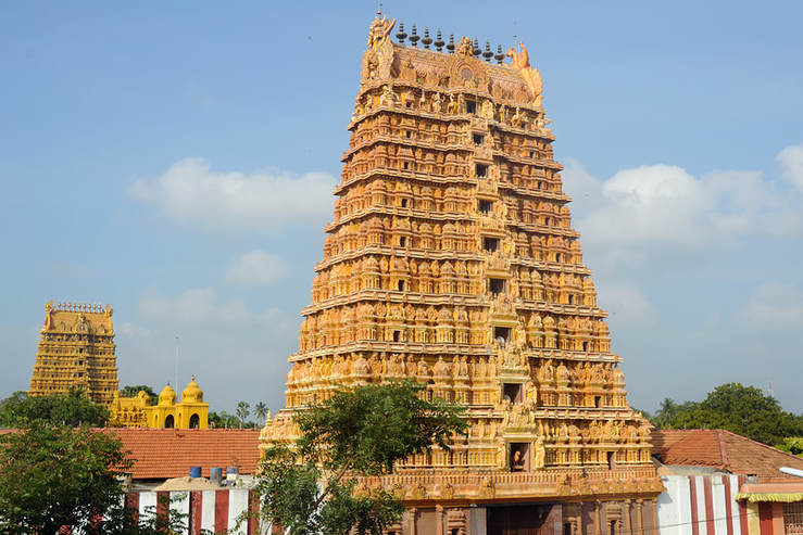Shanmuha Raja Gopuram, southern gateway tower of Nallur Kandaswamy Kovil