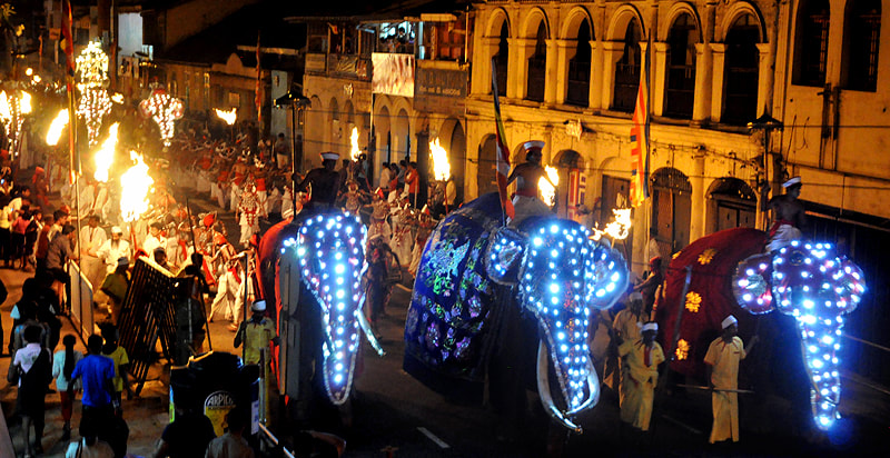 Kandy Esala Perahera, annually in August