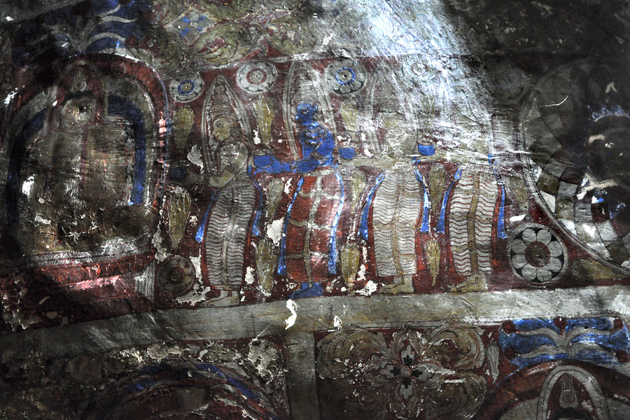 Yapahuwa murals from the Kandyan period