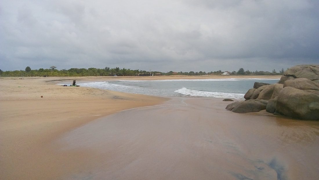 beach at Whisky Point to the north of Pottuvil and Arugam Bay