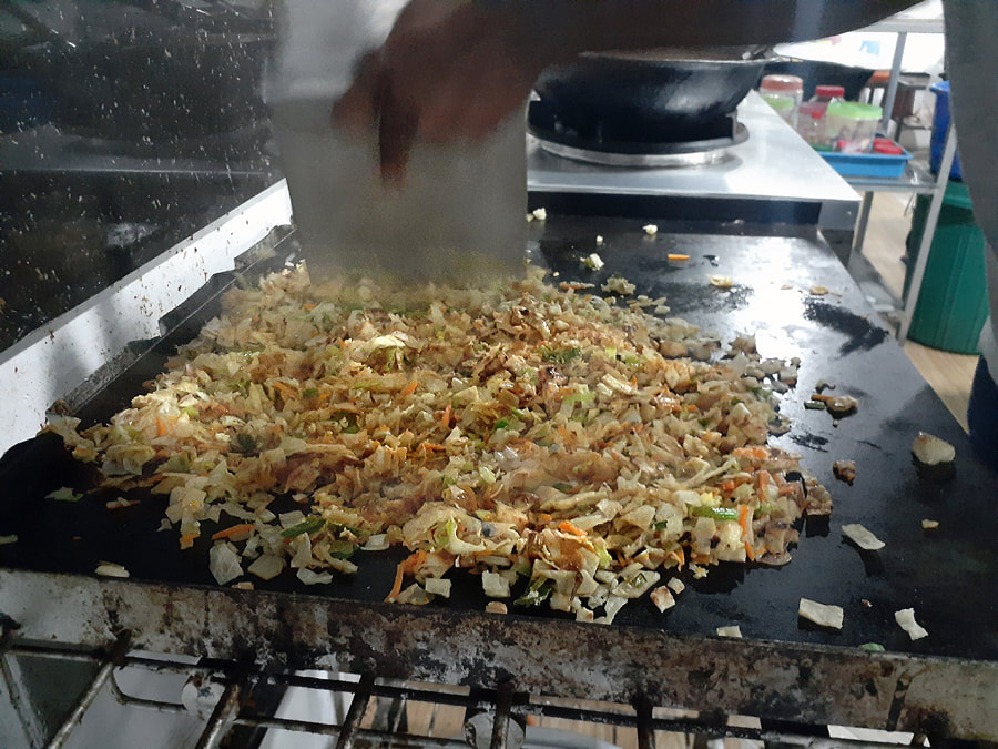 cutting of the Kottu Roti