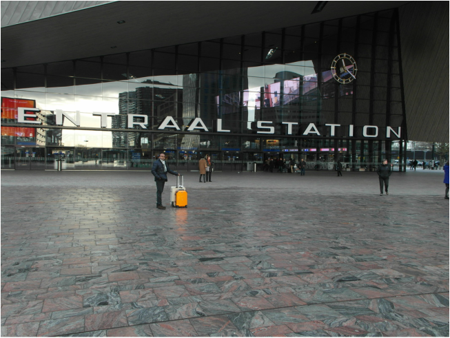 in front of Rotterdam Airport