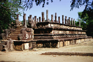 throne hall of King Nissanka Malla at the shores of Lake Topa Wewa in Polonnaruwa