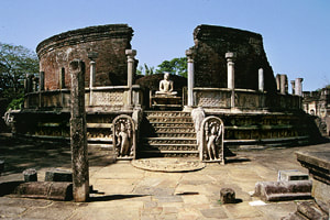 Vatadage circular temple in the area of Polonnaruwa's quadrangle