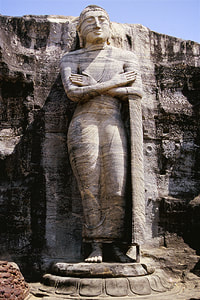 standing statue of the Gal Viharaya group in Polonnaruwa