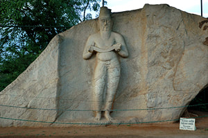 Statue of Parakramabahu or Pulatthi near the Pothgul Vihara of Polonnaruwa