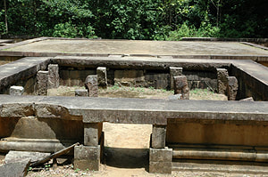 main meditation platform Padganagara 16 in Ritigala