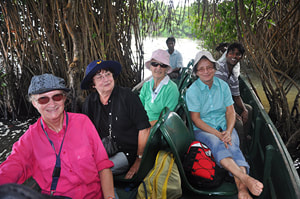 boat tour in Muturajawela mangroves near Negombo
