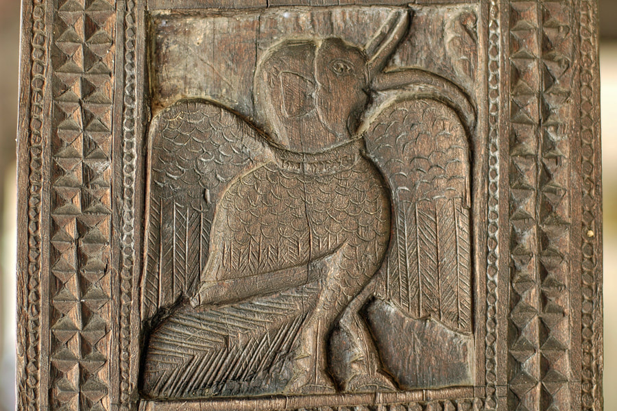 bird with elephant head and trunk in the Digge of Embekke