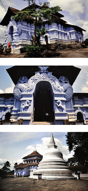 Blue temple of Lankatilaka in the year 2000
