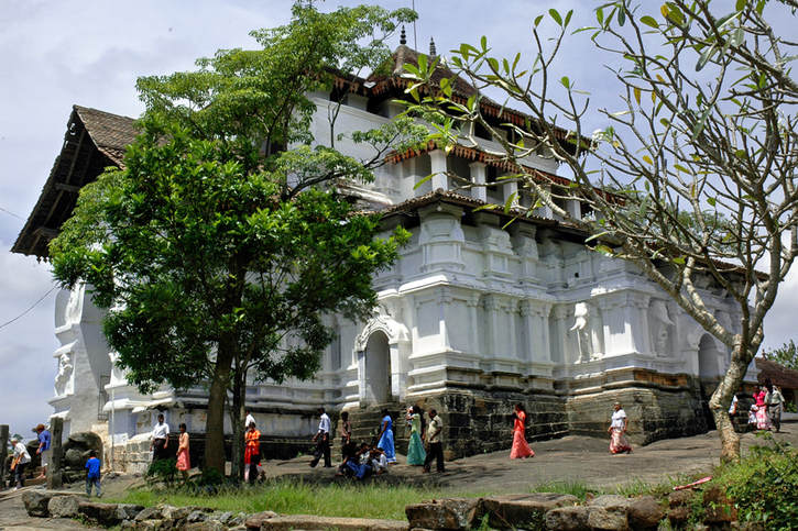 late medieval Lankatilaka temple in the surroundings of Kandy