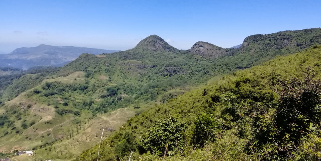 hiking panorama in Sri Lanka