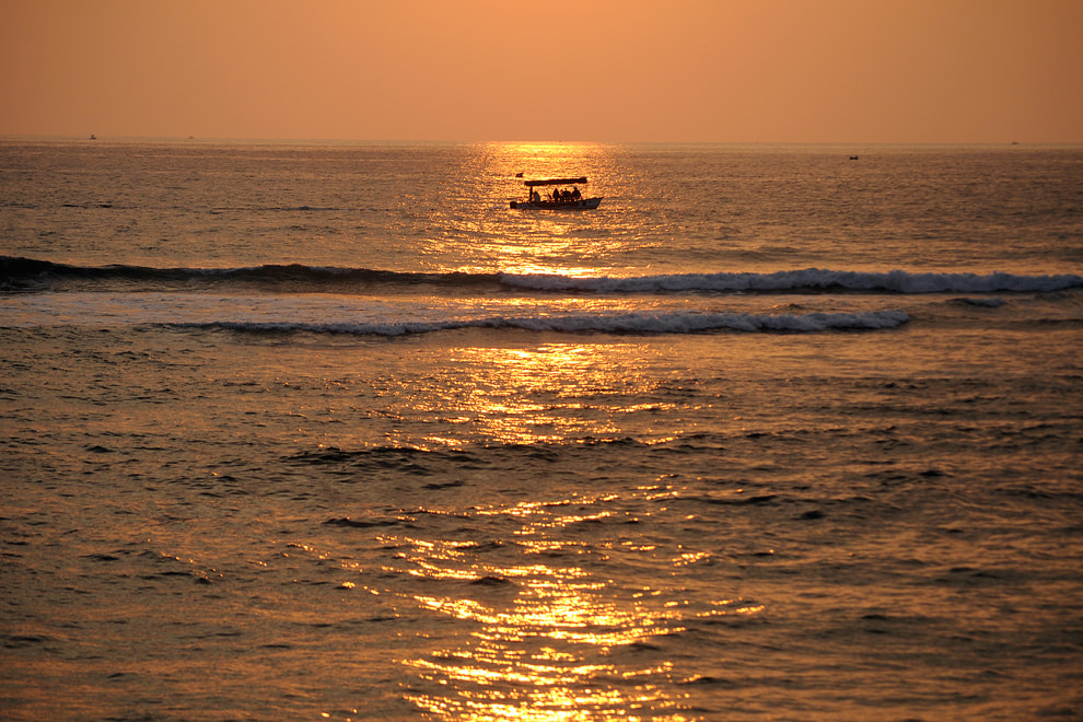 sunset at Hikkaduwa Beach