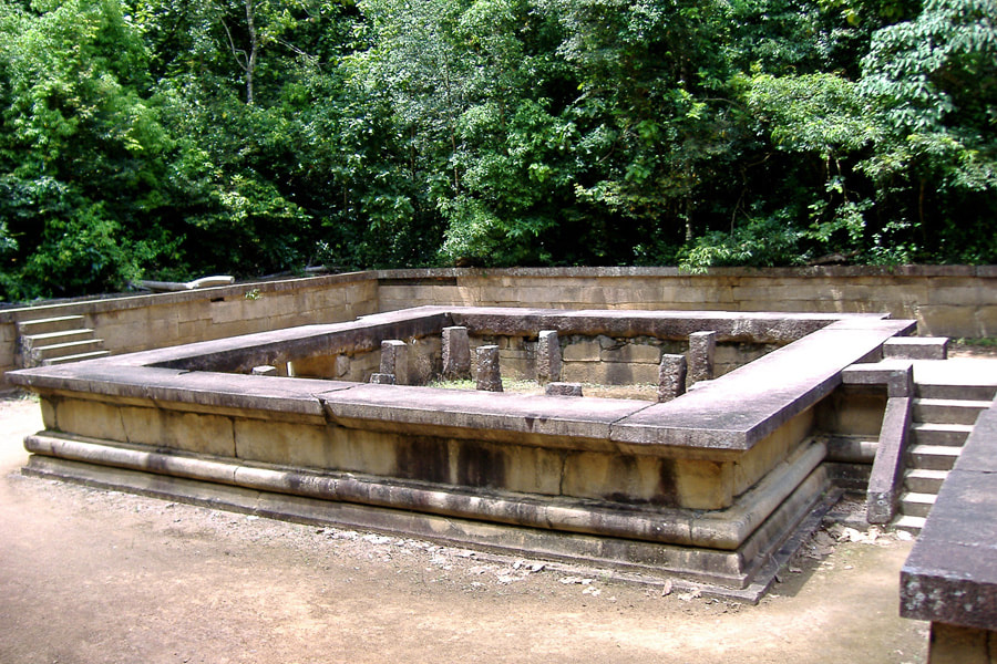 ancient meditation platform of Pansukulikas in Ritigala