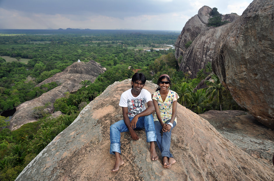 Paramakanda rock near Anamaduwa in Sri Lanka