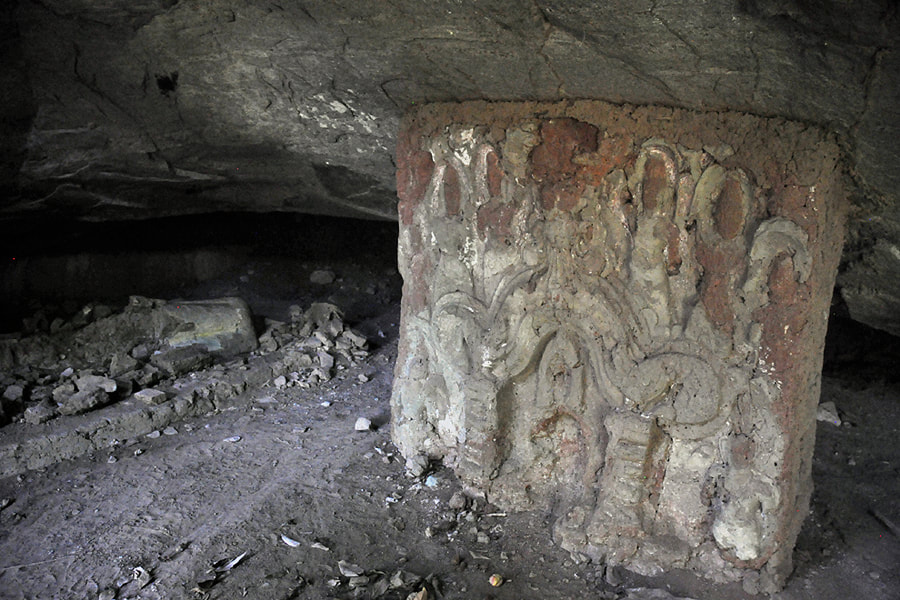 relief in a natural rock shelter of Mulkirigala