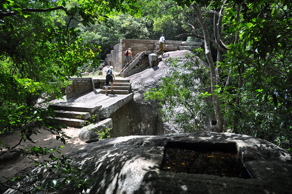Ritigala archaeological site in Sri Lanka