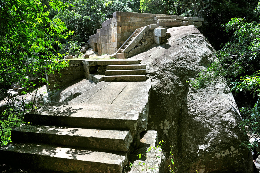 ruins of a library of the ancient monastery of Ritigala